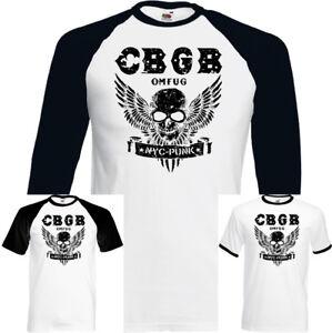 CBGB-el-hogar-de-Punk-Omfug-subterraneo-para-hombre-Camiseta-NYC-Club-Motociclista-Calavera-Alas