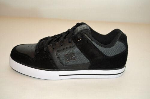 Dc Pure SchwarzGrau Textil Leder Schuhe 301024 Se Shoes Skater Sneaker Low kuPTXiZO
