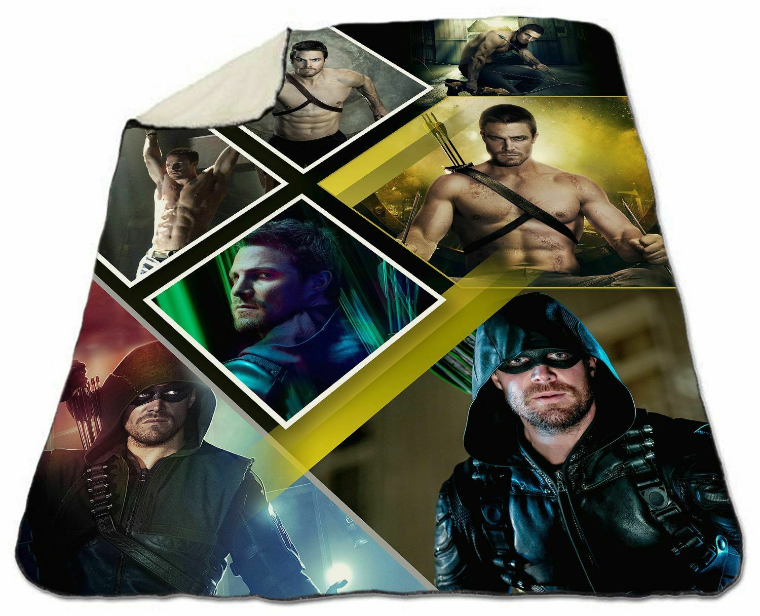 Stephen Amell Collage Winter Blanket 150 x 200 cm NEW Fleece Christmas Arrow