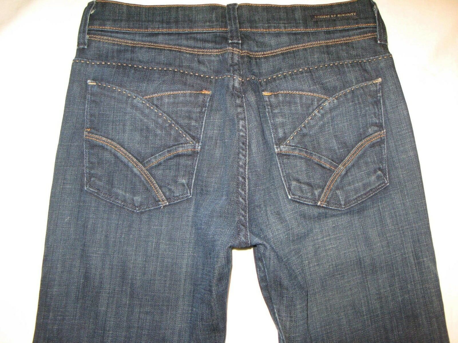 Citizens of Humanity Hutton Jeans Sz 26 High Rise Wide Leg Stretch Dark Wash