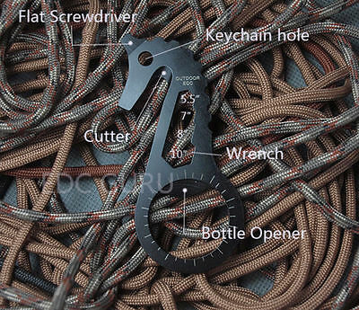 EDC Gear Tactical Keychain Multi Tool Bottle Opener Screwdriver Cutter Wrench