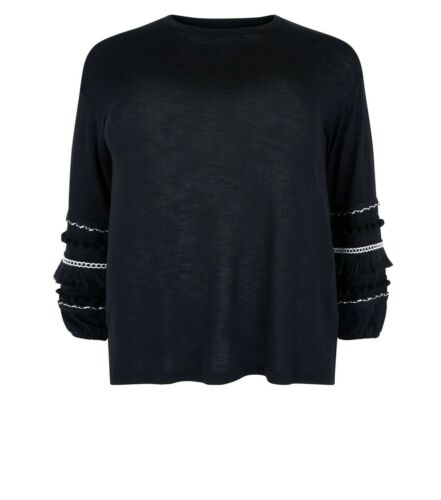 New Look Ladies Curve Black Jumper New With Tags Multiple Size RRP £24.99