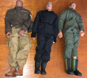 3-Ultimate-Soldier-1-6-12-Action-Figure-Lot-Set-Nice-21st-Century-Toys