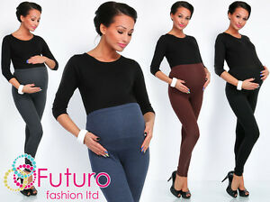 a5cb530edd6d5 Image is loading Winter-Thick-Heavy-Warm-Cotton-Maternity-Pregnancy-Leggings -