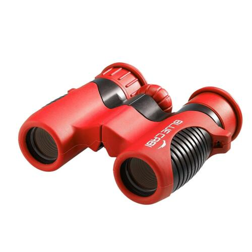 BlueCabi Shock Proof 8x21 Kids Binoculars - High Resolution - Red/Black
