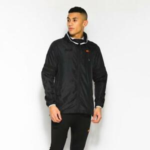 850b32f68d Details about Ellesse Men's Waterproof Jacket Black Cosmology Large