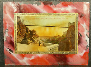 Carte-postale-Constantine-route-de-Philippeville-passerelle-Sidi-M-039-Cid-Algerie