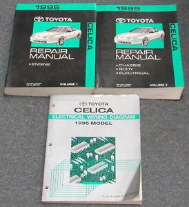 1995 Toyota Celica Service Repair Manual Set Ebay