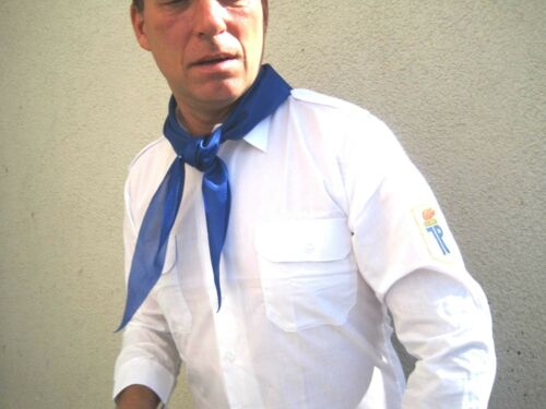 Jungpionier FDJ  Hemd FDJ Bluse Hemd Gr.L Uniform Fasching  Halstuch DDR