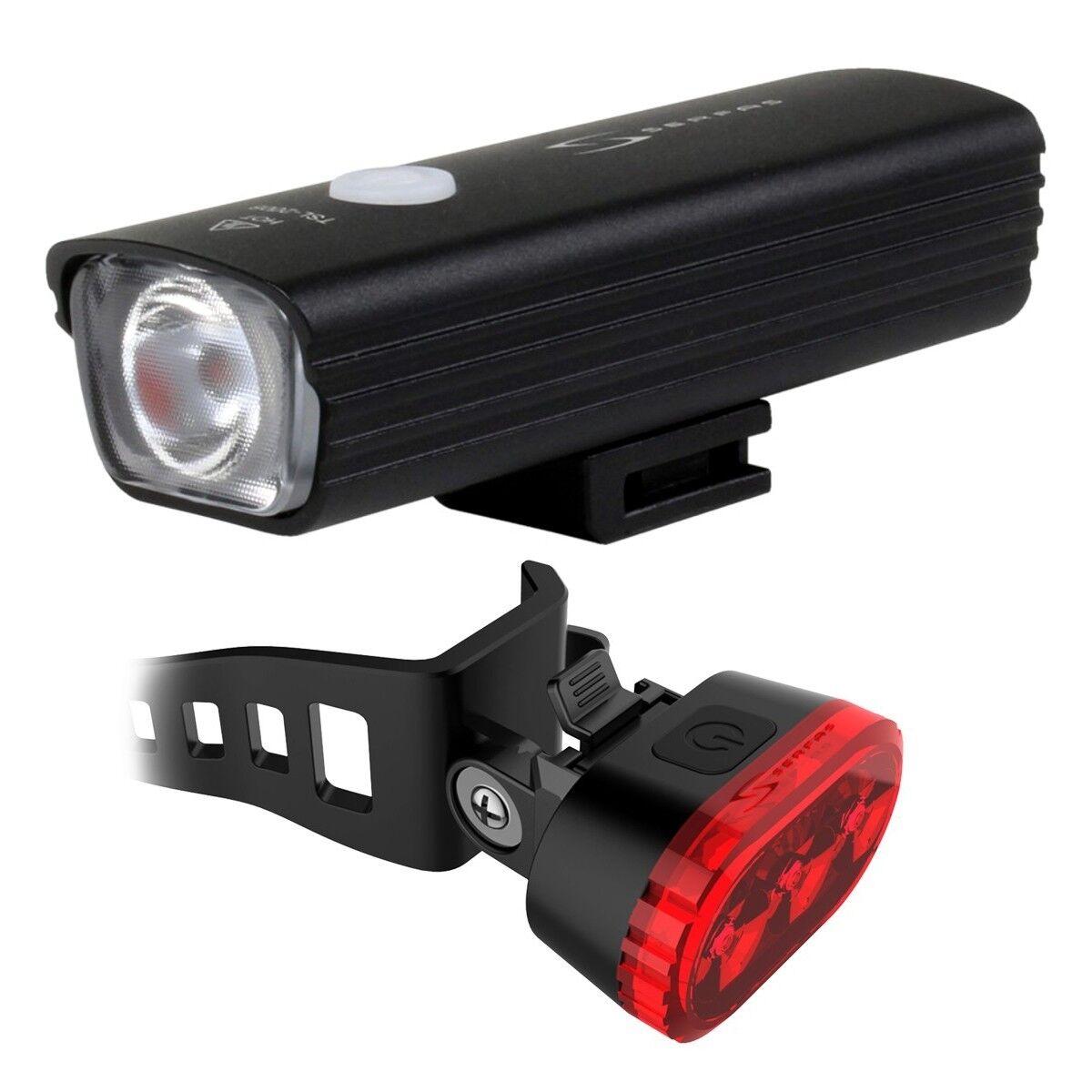 Serfas E-Lume Bike  Headlight Taillight Combo UTL-15 USL-200 USB Rechargeable  high quality & fast shipping