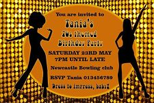 Personalised 70s Themed Birthday Party Invitations X 10 eBay