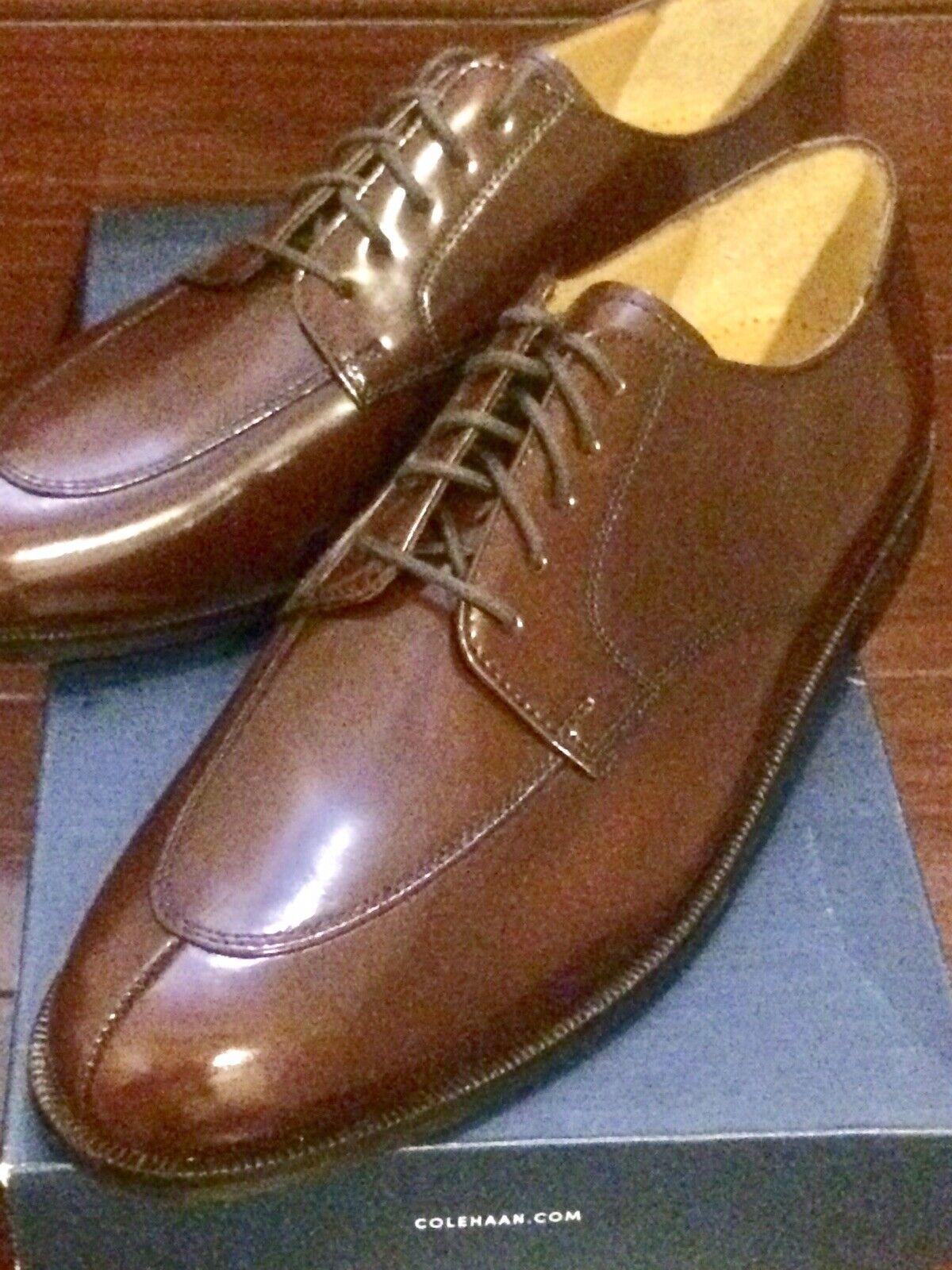 servizio di prima classe COLE HAAN Calhoun Oxford C00590 Mahogany Mahogany Mahogany Leather Split Toe Dress scarpe Uomo 10.5  servizio onesto