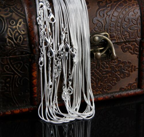 Wholesale Bulk 2-100X 2MM Silver EP Snake Chain Silver Plated Men/&Women Necklace
