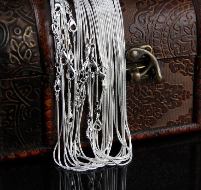 Wholesale Bulk 2MM silver EP snake Chain Silver Plated Men&Women necklace