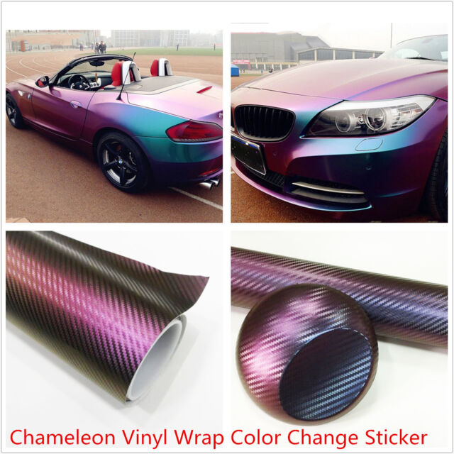 60cm x 152cm Chameleon Blue-Purple Vinyl Film Wrap Color Change Car Body Sticker