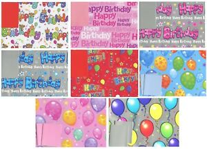 Image Is Loading HAPPY BIRTHDAY 2 SHEETS OF GIFT WRAP WRAPPING