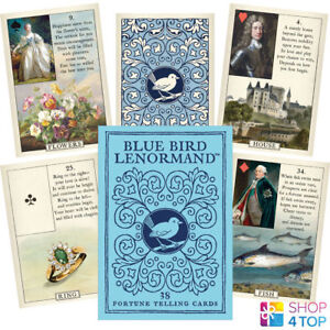 BLUE-BIRD-LENORMAND-ORAKEL-DECK-KARTEN-STUART-KAPLAN-US-GAMES-SYSTEMS-NEU
