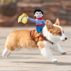 US-Pets-Puppy-Cowboy-Dog-Rider-Dog-Cat-Coat-Clothes-Party-Costume-Dress-Up-Toys