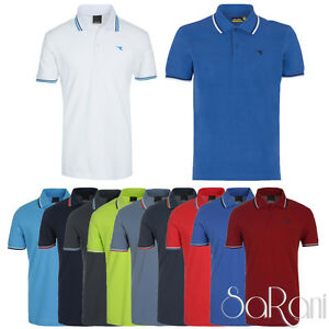 Polo-Uomo-DIADORA-Sport-Cotone-Piquet-Maniche-Corte-T-Shirt-Colorate-Righe