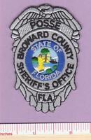 Broward Sheriff FL State of Florida Fla Law Enf. Posse Shoulder Police Patch