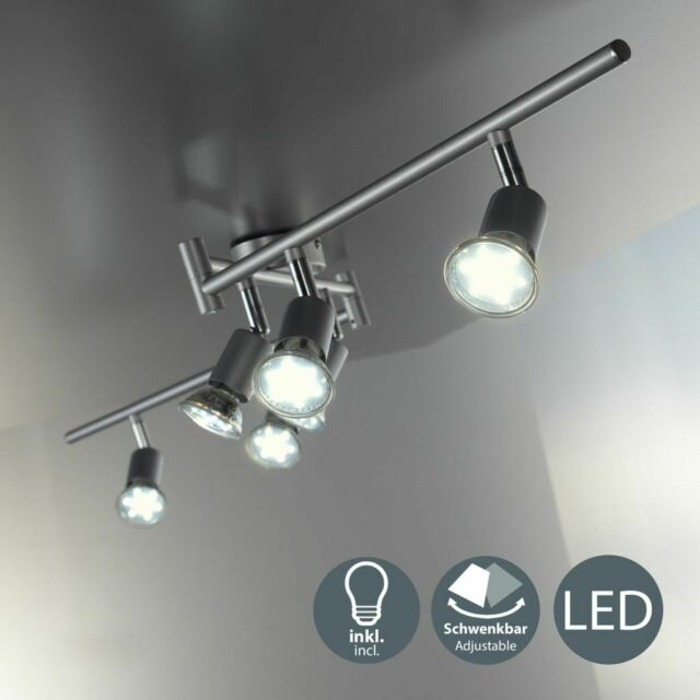 3-flammig LED Deckenleuchte Deckenlampe Strahler Deckenstrahler Verstellbar