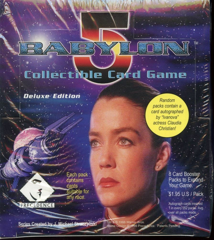 Babylon 5 Deluxe Deluxe Deluxe Edition CCG Booster Game 24 Sealed Card Box Case a1b9db