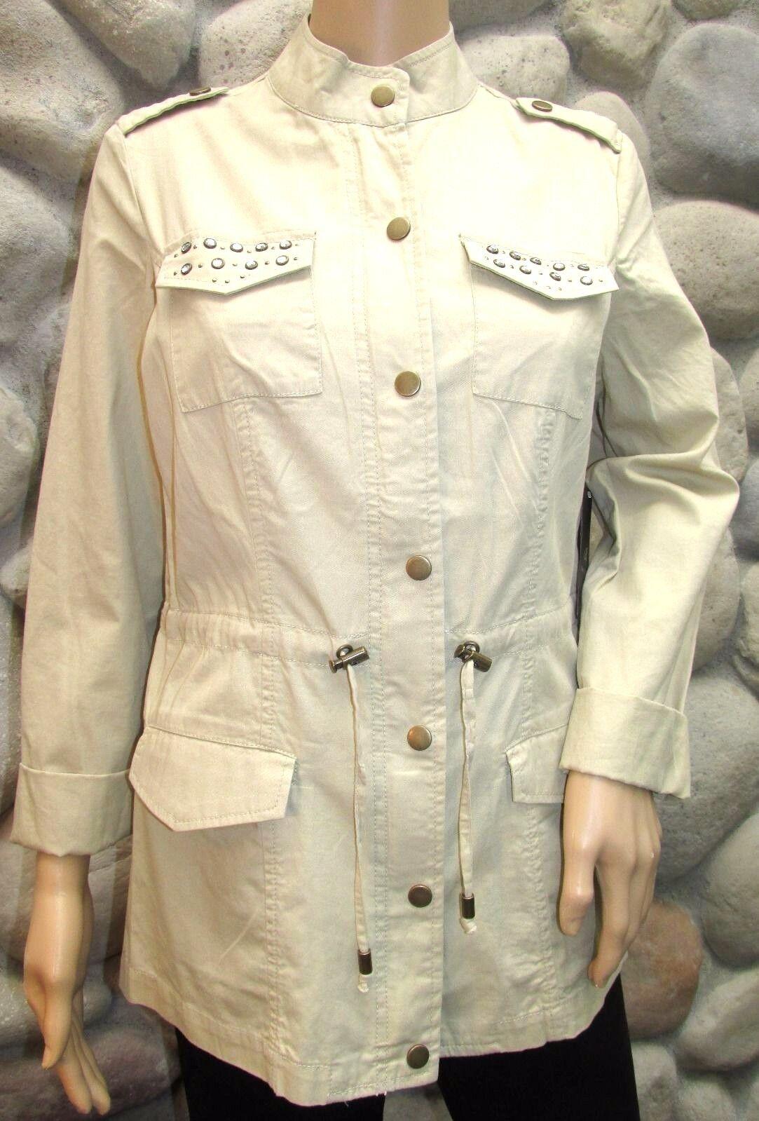 NWT Women's Baccini Khaki Embellished Lightweight Jacket Size S