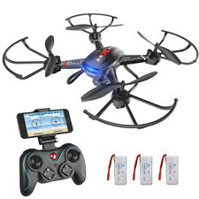 Holy Stone F181W FPV Drohne mit FOV 720P HD Wifi Kamera App Quadrocopter 3 Akkus