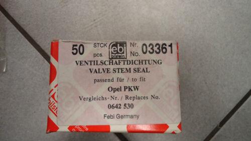 1 x Dichtring Ventilschaft FEBI 03361 Opel Monza Kadett Commodore Rekord Manta
