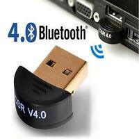 USB 2.0 Mini Bluetooth CSR4.0 Dongle Adapter For Win 8 7 XP Laptop PC Amazing