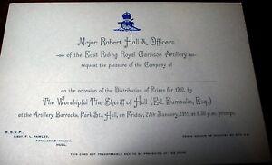 Pre-WW1-Army-prize-invitation-East-Riding-Royal-Garrison-Artillery-Barracks-Hull