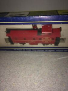 AHM-Ho-Scale-Model-Trains-Santa-Fe-ATSF-Extended-Vision-Caboose-Ready-To-Run-Ex