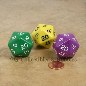 Rollenspiele & Tabletops 6 Set D20 Gaming Dice Twenty Sided Die RPG D&D Six Opaque Colors XI Science Fiction