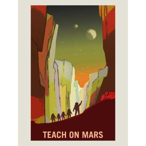 NASA POSTER SPACE EXPLORATION JOB ADVERT MARS ART PRINT