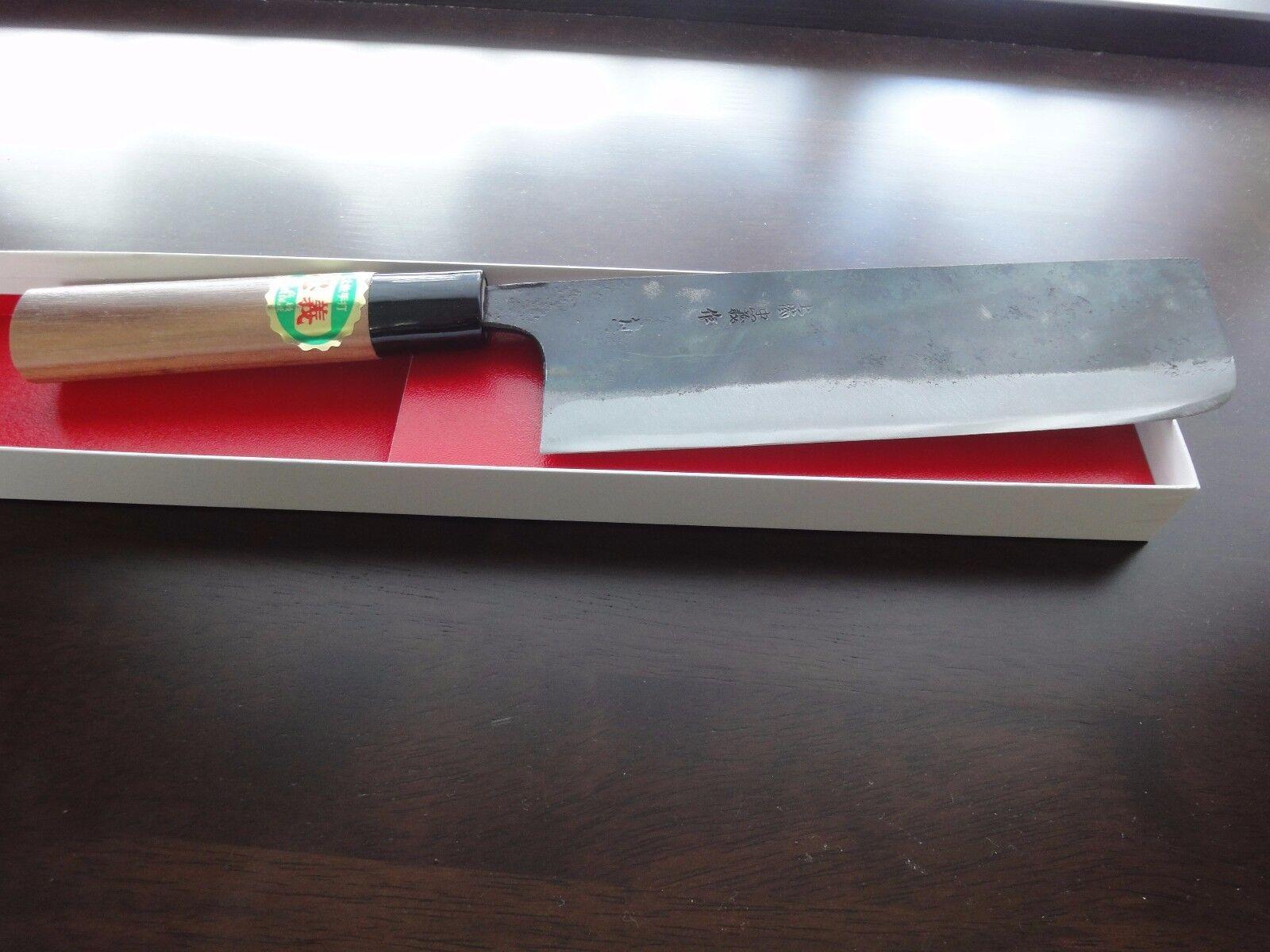 Handmade Nakiri(180mm blade) Blau Steel-1 Japanese Sushi Kitchen Chef knife