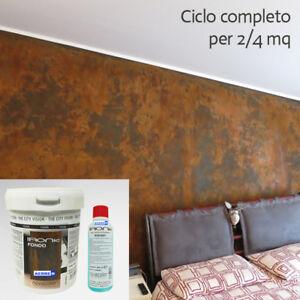 Pittura effetto ruggine corten ciclo completo pittura decorativa pitture moderne ebay - Pitture decorative moderne ...