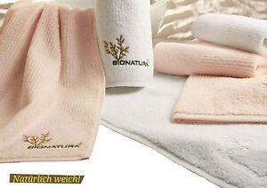 Handtuch Duschtuch BIONATURA Set  BIO Baumwolle kbA  NEU