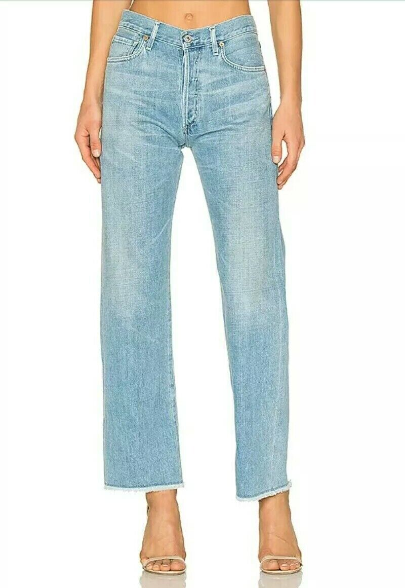 Citizens of Humanity Parker Premium Vintage Relaxed Cuffed Cropped Jeans sz 30