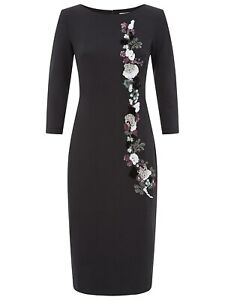 Damsel-in-a-Dress-Black-Scuba-Kanchan-Dress-Size-UK-8-10