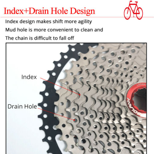US 8 9 10 11 Speed MTB Bike Cassette KMC Chain 40//42//46//50T Cassettes Aluminum