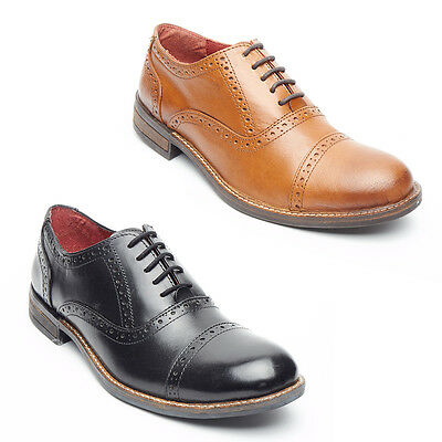Kenntnisreich Mens Real Leather 5 Eyelet Casual Formal Brogue Oxford Office Wedding Shoes
