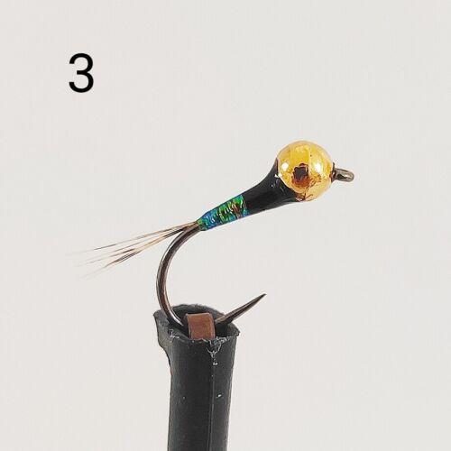 Ninfas Perdigón perdigones S//M pesca mosca fly fishing moscas de pesca rovflies