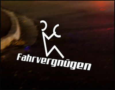Fahrvergnugen Vw Car Decal Vinyl Sticker Bumper Funny Gt Tdi Gti Vr6 Golf Polo Ebay Check out inspiring examples of farfegnugen artwork on deviantart, and get inspired by our community of talented artists. usd