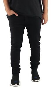 Men-039-s-Skinny-Jeans-BLACK-Motorcycle-Jeans-Skinny-Stretch-Pants-Casual-Pants
