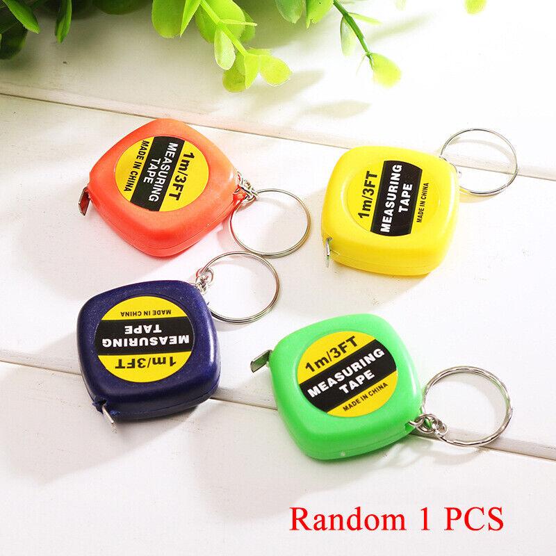1 Meter Farbe Verteilte Schlüsselanhänger Werkzeug Berühmt Mini Mess Band Mobile