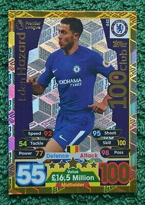 Match Attax Extra 100 Club 2018//19 Eden Hazard Chelsea Bélgica