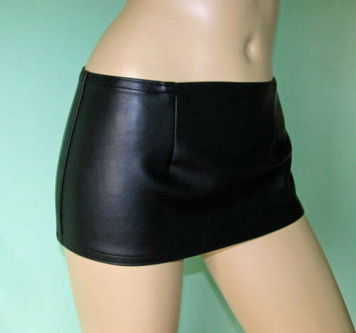 New black fake leather extra short micro hipster mini skirt all sizes
