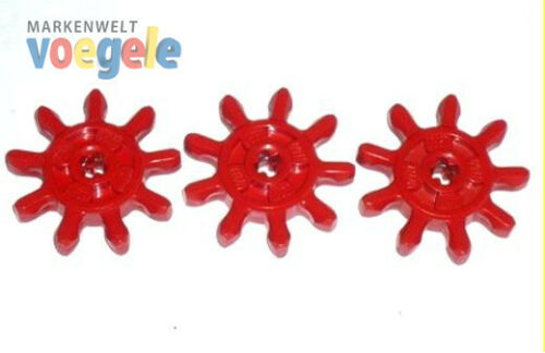 LEGO® Technik TECHNIC 3 Zahnräder Zahnrad aus den 70er Jahren 3 Stück rot