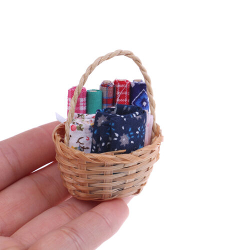 1:12 Dollhouse furniture miniatures basket fabrics mini model decoration JKU/_WK