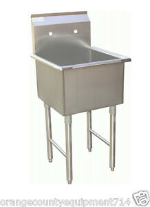 Image Is Loading NEW 15X15 Sink 1 Compartment Mop Stainless Steel
